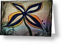 Funky Flower Greeting Card