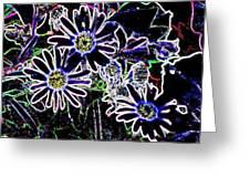 Funky Flowers Greeting Card