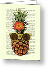 Funny And Cute Pineapple Art Greeting Card