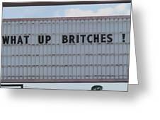 Funny Billboard  Greeting Card