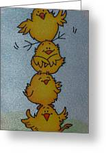 Funny Chickens Greeting Card