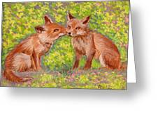 Funny Foxes .2007 Greeting Card