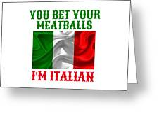 Funny Italian Flag Greeting Card