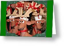 Funny Reindeer Greeting Card