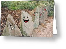 Funny Rocks Greeting Card