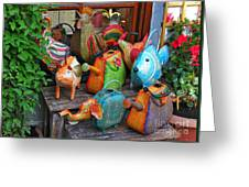 Funny Watering Cans Greeting Card