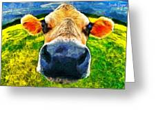 Funnycow Greeting Card