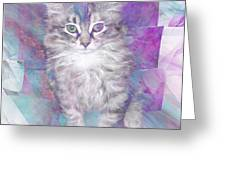 Fur Ball - Square Version Greeting Card