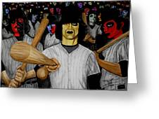 Furies Up To Bat Greeting Card by Al  Molina