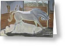 furious Horse Greeting Card