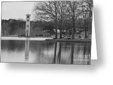 Furman Bell Tower 3 Bw Greeting Card