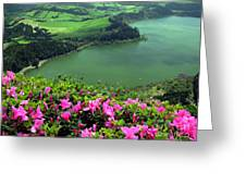 Furnas Lake Azores Greeting Card