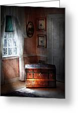Furniture - Bedroom - Family Secrets Greeting Card by Mike Savad