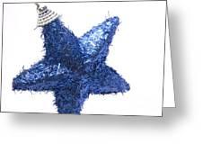 Furry Christmas Star Greeting Card