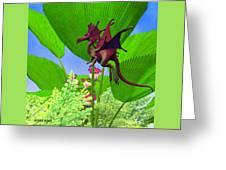 Fury Flying Dragon Greeting Card