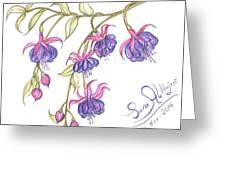 Fuschia Flowers Greeting Card