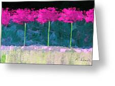 Fuschia Trees Greeting Card