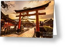 Fushimi Inari Taisha Shrine In Kyoto Greeting Card