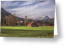 Fussen Mountain Scene Greeting Card