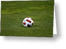 Futbol Greeting Card by Laddie Halupa