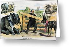 G. Cleveland Cartoon, 1895 Greeting Card by Granger