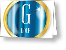 G For Golf Greeting Card