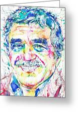Gabriel Garcia Marquez - Portrait.2 Greeting Card