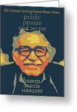 Gabriel Garcia Marquez Greeting Card