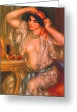 Gabrielle At The Mirror 1910 Greeting Card