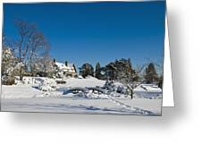 Gairloch House In Winter Greeting Card