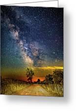 Galactic Dirt Road Greeting Card