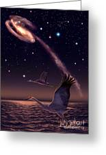 Galactic Migration Greeting Card