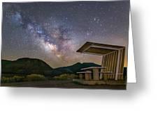 Galactic Picnic - Milky Way At Pyramid Lake Greeting Card