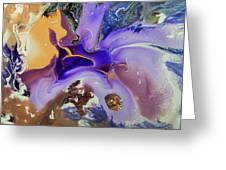 Galactic Portal. Abstract Fluid Acrylic Pour Greeting Card