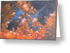 Galactic Storm Greeting Card by Elizabeth Lane