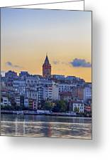 Galata Tower In The Morning. Greeting Card