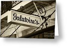 Galatoire's Friday Brunch Greeting Card