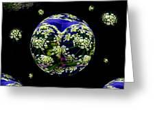 Galaxie De Fleur Greeting Card