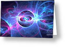 Galaxy Atoms Greeting Card