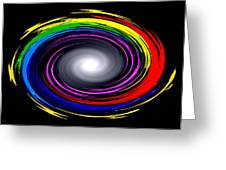 Galaxy In Chakra Colors Greeting Card