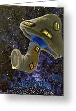 Button In Space Greeting Card