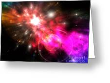 Galaxy Of Light Greeting Card