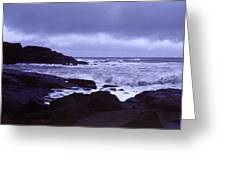 Gale Winds At Nubble Light Greeting Card