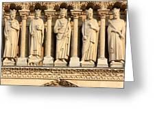 Galerie Des Rois Catherdrale Notre Dame De Paris France Greeting Card