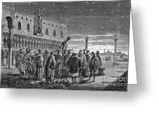 Galileo Demonstrates Telescope, 1609 Greeting Card