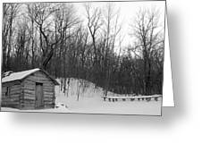 Galland School Outside Of Montrose Iowa Greeting Card