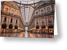 Galleria Milan Italy II Greeting Card