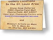 Gallery Locations In The St. Louis Area Greeting Card