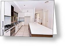 Galley Kitchen Greeting Card