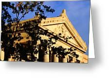Gallier Hall Pediment Greeting Card